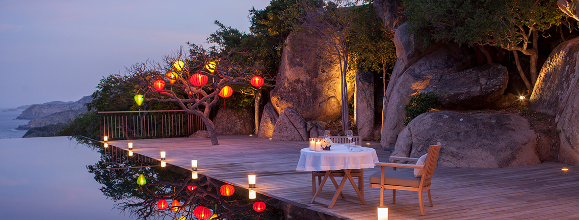 ベトナムの静かな隠れ家に泊まる</p>AMANOI3泊5日