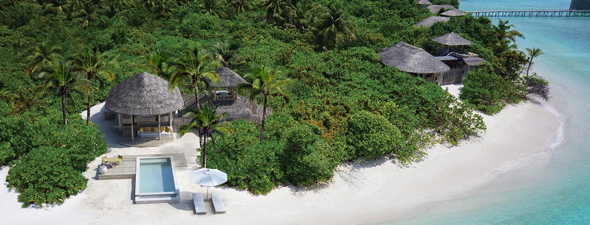 ラーム環礁初のリゾート</p>シックスセンシズ ラーム3泊5日