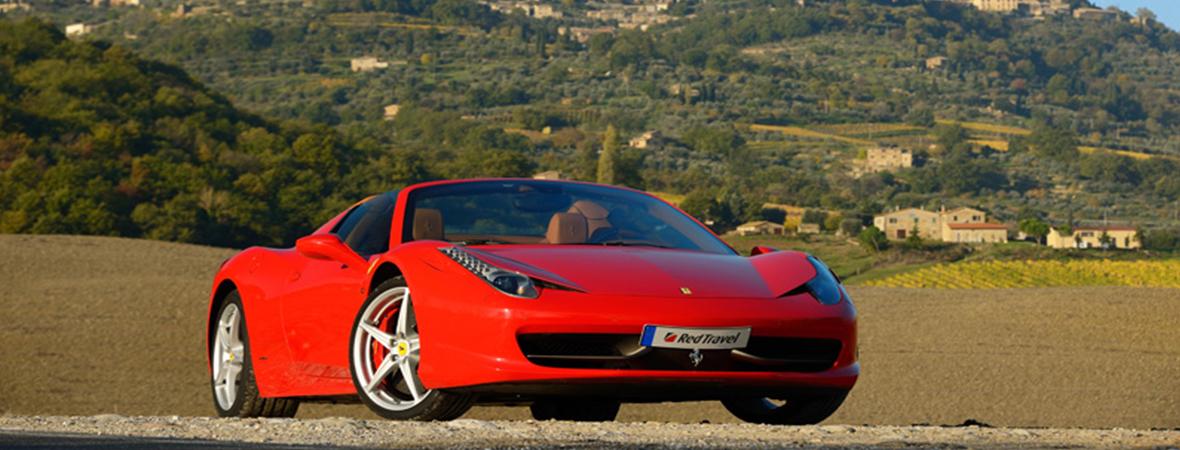 フェラーリでドライブするトスカーナ3泊5日