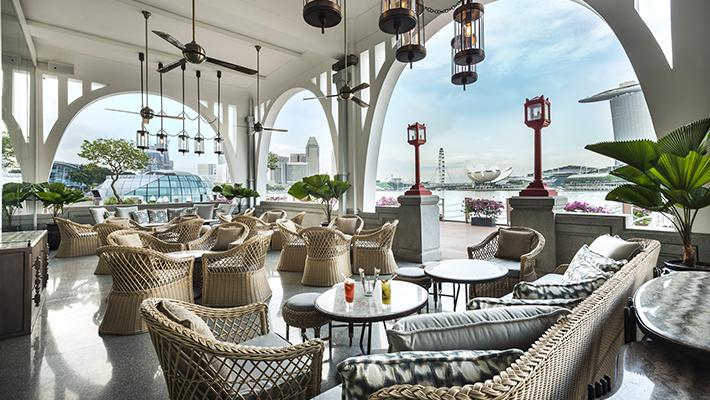 マリーナベイを一望する</p>フラトンベイ ホテル シンガポール 3泊4日