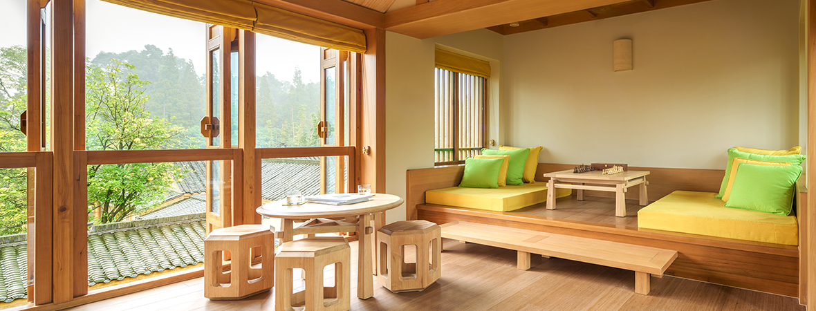 世界遺産の麓に佇む山岳リゾート</p>シックスセンシズ 青城山 3泊4日